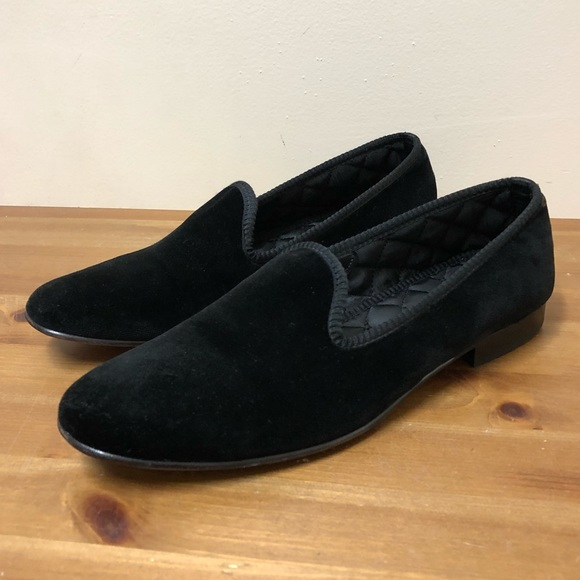 9fb744f7febf WOMENS DEL TORO BLACK VELVET SLIPPERS